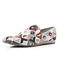 Red Dispair geometric print shoes