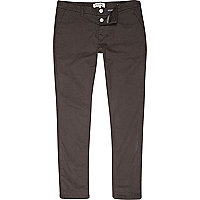 Grey skinny stretch trousers