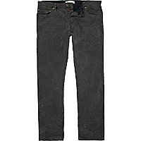 Grey corduroy casual trousers