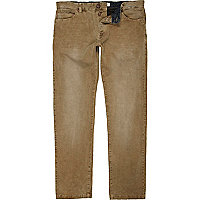 Brown corduroy casual trousers