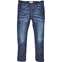 Mid wash Ethan skinny tapered jeans