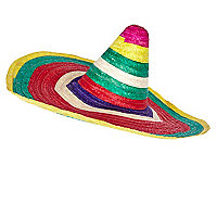 Multicoloured stripe sombrero