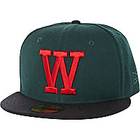Dark green WeSC W snap back hat