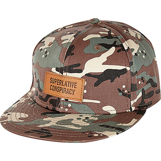 Khaki camo WeSC snap back hat