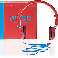 Red WeSC headphones