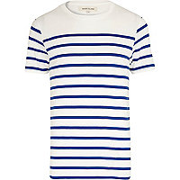 Blue and white breton stripe t-shirt