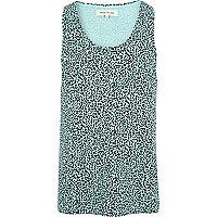 Blue leopard print vest