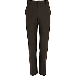 Light brown slim fit suit trousers