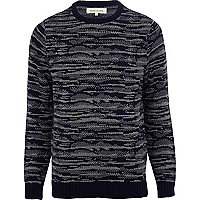 Navy camo pattern jumper