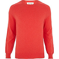 Red raglan sleeve jumper