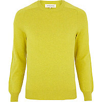 Yellow raglan sleeve jumper