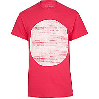 Pink abstract circle print t-shirt