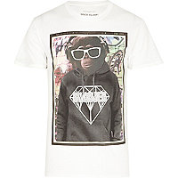 Black swagger monkey print t-shirt