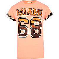 Orange Miami 88 tiger print t-shirt