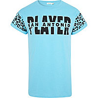 Blue San Antonio player print t-shirt