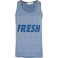 Blue polka dot fresh print vest