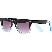 Black dip dye retro sunglasses