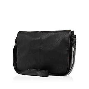 Black contrast trim flap over bag