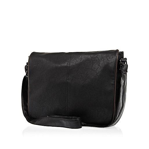 Black contrast trim flap over bag