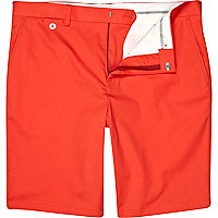 Orange suit shorts
