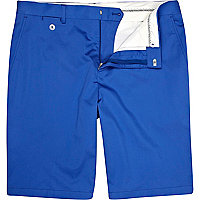Blue suit shorts