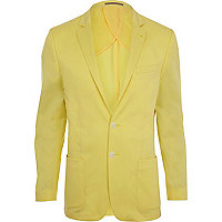 Yellow slim suit jacket