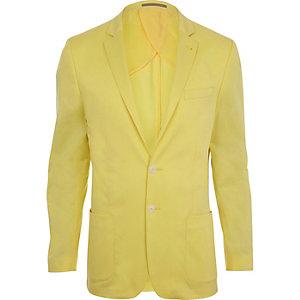 Yellow slim suit jacket