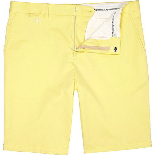 Yellow suit shorts