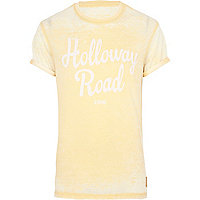 Yellow burnout Holloway Road t-shirt