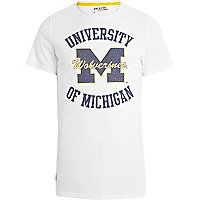 White University of Michigan print t-shirt