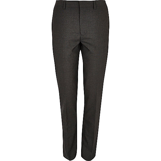 Charcoal grey skinny suit trousers