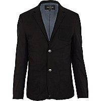 Black knit pocket blazer