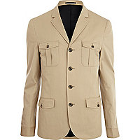 Ecru cotton blazer