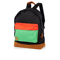 Black colour block MiPac rucksack