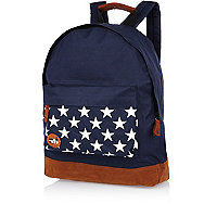 Navy star print pocket MiPac rucksack