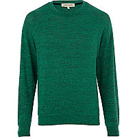 Green textured sweatshirt
