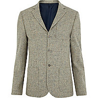Light brown oatmeal textured blazer