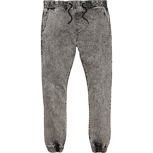 Black acid wash Ryan skinny jogger jeans
