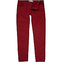 Dark red Sid skinny stretch jeans
