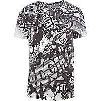 White Boom comic graffiti print t-shirt