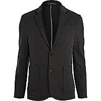 Dark grey jersey blazer