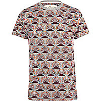 Red Bellfield repeat print t-shirt
