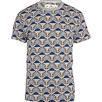 Blue Bellfield repeat print t-shirt