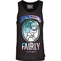 Black Beck & Hersey fairly kid print vest