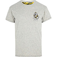 Grey Beck & Hersey reversible tiger t-shirt
