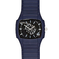 Navy rubber watch