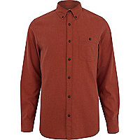 Rust brown long sleeve flannel shirt