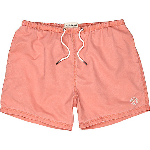 Orange short swim shorts