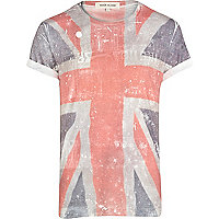 Blue union jack front print t-shirt