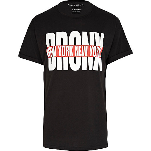 Black Bronx New York print t-shirt